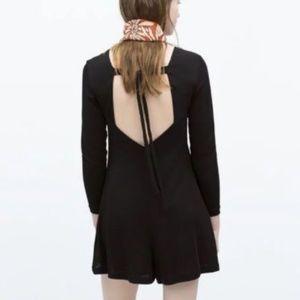 🎀NWT🎀 Zara Trafaluc Black Tie Back Romper